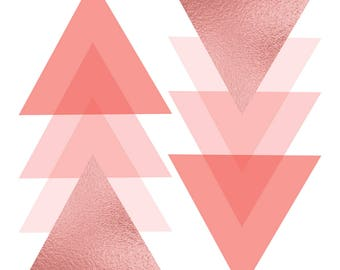 Pink Triangle Print Digital  Instant Download