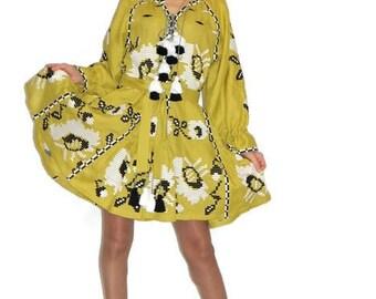 Vishivanka Dress Bohemian Clothing Boho Dresses Ukrainian Embroidery Kaftan Dubai Abaya Embroidered Dresses Ukraine Clothes Gypsy Coachella