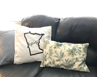 State Pillow Cover with Pillow