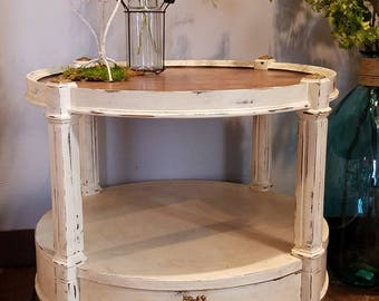Antique Art Deco Side Table - Refurbished