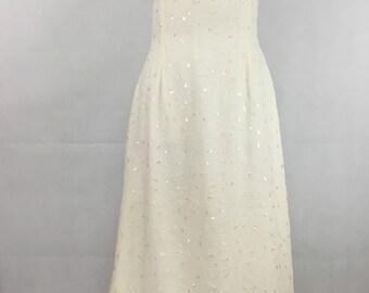 Beaded ivory chiffon strappy wedding dress