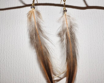 Radical Rooster Tail Feather Earrings