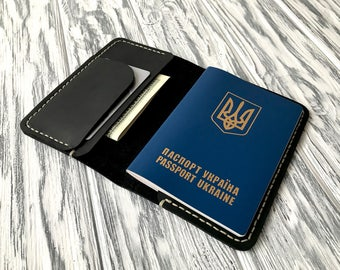 Personalized Passport Cover, Leather Passport Holder, Genuine Leather, Travel Gift, Gift for Traveler, Engraved Personalized Passport Holder