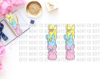 Easter Peeps Planner Bookmark| Digital download | KittyMintCo