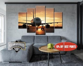 aviation wall art airplane wall decor plane canvas print aviation living