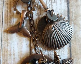 "Nautical ""Listen"" - key chain /purse accessory"