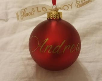 Custom Christmas Ornaments | Name Christmas Ornaments | Personalized Christmas Ornaments