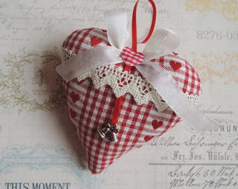 Decorative fabric hanging heart / gift / Easter