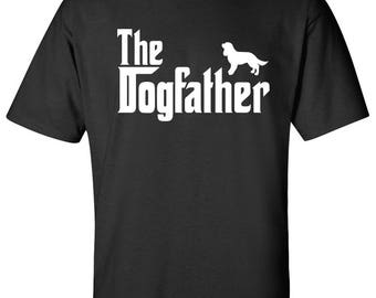 The Dogfather Cavalier King Charles Spaniel Dog Logo Graphic TShirt
