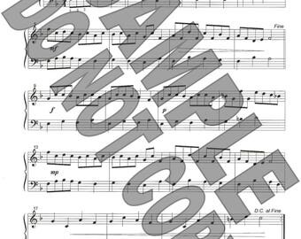 You Can't Catch Me! easy version sheet music