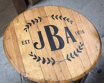Custom Bourbon Barrel Head