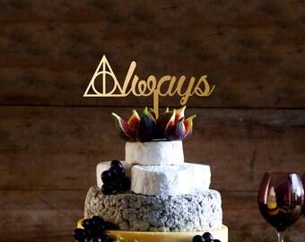 always cake topper, Always Wedding Cake Topper, Harry Potter Wedding Cake Topper, Wedding And  Anniversary cake topper