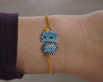 Robot boy miyuki beaded bracelet