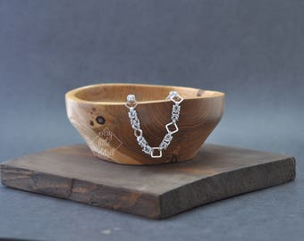 Byzantine & Squares Chainmaille Bracelet