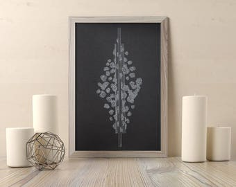 Original art,  zen decor, interior design, minimalist home decor, decorative poster, spiritual gift, black and white wall art, Beatriz Plata