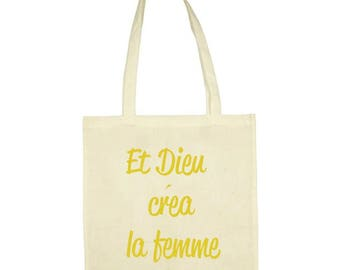 "Tote bag ""And God created woman"""