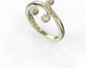 14K/18K Gold Diamond Ring Beautiful young fashion italian gold Jewelry JolieJ