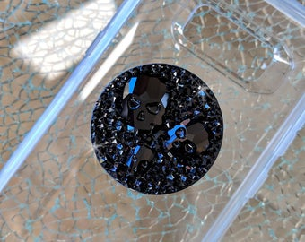 Swarovski Crystal Skulls Black PopSocket