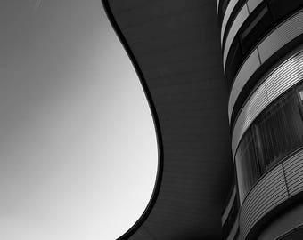 Fine Art, print, Canvas, Wall Art, Home decor, furnishing, Shaped, black and white, Gift, Italy, picture, modern, architecture, building