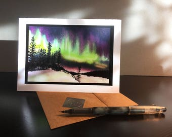 Color Auroa Borealis Card