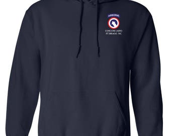 1st Sustainment Command-COSCOM (Airborne) Embroidered Hooded Sweatshirt-7625
