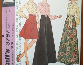 Vintage 1970s sewing pattern: McCall's 3797 (Size 16)