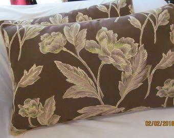 Pair Beacon Hill Brocade Lumbar Pillow Covers