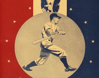 1943 NEW YORK YANKEES - Vintage Baseball Poster
