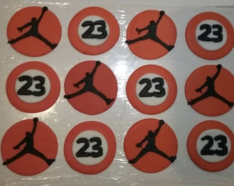 Air Michael Jordan Cupcake, Cake, Cookie Toppers