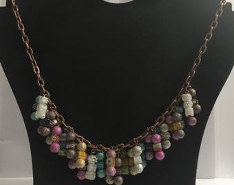 Mixed plastic beaded necklace