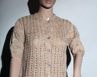 60s beige wool vest