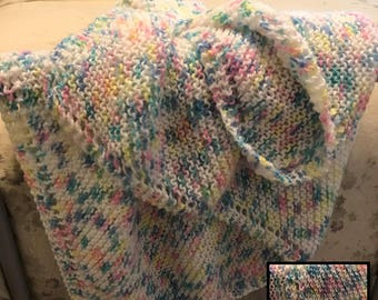Knit blanket for baby