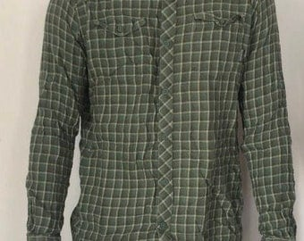 Mens longsleeve lightweight green flannel by columbia sportswear