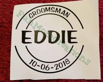 Groomsman Decal