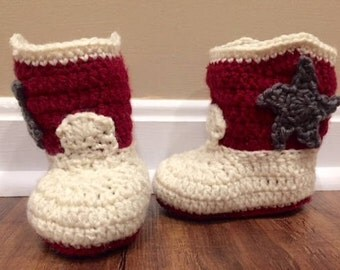 Cowboy Booties/ Baby Booties/ Custom Colors Available!