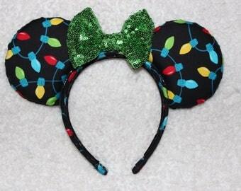Christmas Festive Lights Mouse Ears