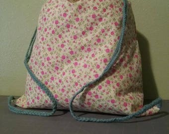 Handmade Drawstring Backpack