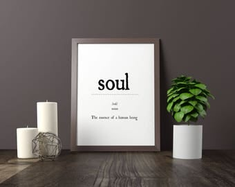 soul, dictionary definition quote printable artsy decor