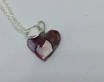 Hand-painted Heart Necklace