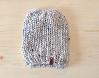chunky oatmeal knit hat (childrens)