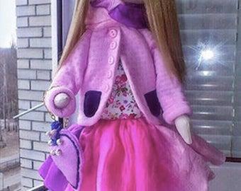 Textile Doll - Handmade
