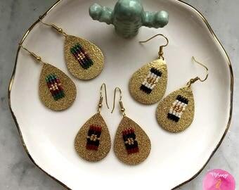 Drop earrings gold