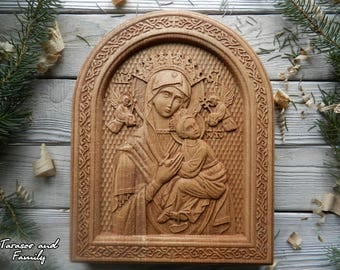 Virgin Mary icon wood carving easter icon Catholic art icon Orthodox icon Christian icon Our lady Guadalupe icon Russian icon religious icon