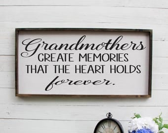 Grandmothers Create Memories That The Heart Holds Forever New Grandparents Gift Gift For New Grandparents Gift For New Grandma Grandmother