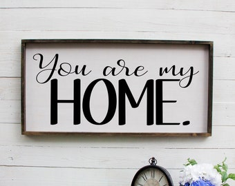 You Are My Home, This Is Us Rustic Wooden Over The Bed, Farmhouse Decor, Large Wall Art, Rustic Wall Decor, Wood Sign, Wooden Signs, Rustic