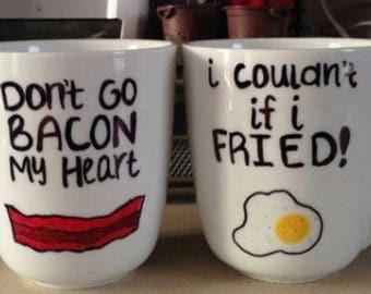 Don't Go Bacon My Heart / I Couldn't If I Fried Mug Set