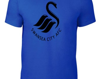 Swansea City Football Club T Shirt Jersey Plus Sizes S - 5XL