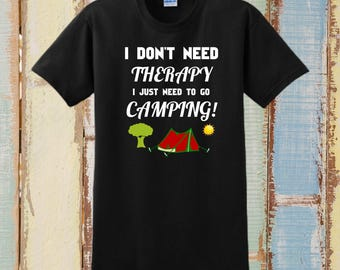 CAMPING GIFT, Custom T-Shirt, Personalized T-Shirt, Camping Shirts, Camping, Outdoor Camping, Funny T-Shirts, Camping Gear, Gift For Him