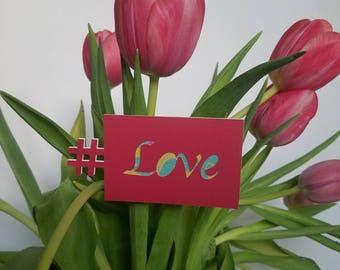 Love, Valentine's Day , # Love , Gift tag,