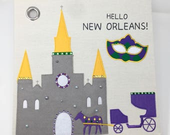 Hello New Orleans! Canvas Storage Box